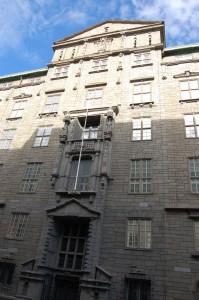 Telegrafbygningen. Nærbilde av inngangspartiet