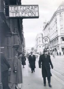 Telegrafbygningen 1952 - publikumsinngangen