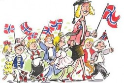SAN-Det gikk et festtog gjennom landet på 17 mai :-)