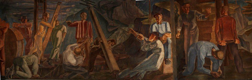 Utsnitt fra Rolfsens freskomaleri