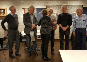HAM- Årsmøtet 2017 Arild får blomster