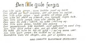 Dikt skrevet av en ung Gerd