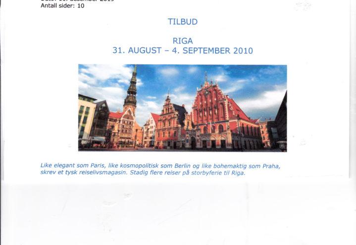 Tur til Riga 2020